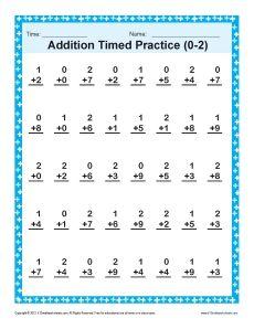 first grade math | Subtraction Timed 0-3 | Kindergarten, 1st Grade ...