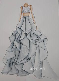 Dress Design Drawing, Dress Design Sketches, Dress Drawing, Fashion Design Drawings, Fashion Sketches, Dress Designs, Wedding Dress Sketches, Fashion Design Portfolio, Fashion Drawing Dresses
