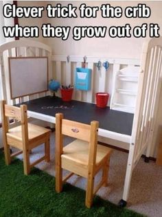 Стол для ребенка из кроватки