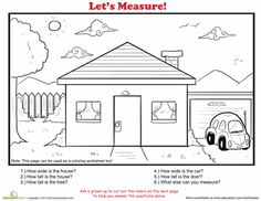 Worksheets: How to Measure: House