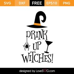 Free SVG, EPS, DXF and PNG files. Beautiful for baby. Use with Silhouette… cricut halloween Halloween Vinyl, Halloween Silhouettes, Halloween Fun, Halloween Quotes, Halloween Clipart, Halloween Witches, Halloween Prints, Halloween Cards, Holidays Halloween