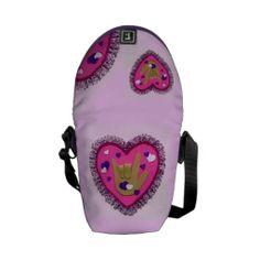 sign language love heart purse