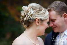 This gorgeous #updo is to die for! #hairstyles #bridalhair