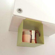 Clip on cube storage