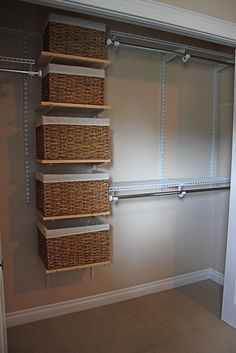 33 Super Ideas For Master Bedroom Closet Organization Diy Walk In Laundry Rooms Baby Closet Organization, Small Space Organization, Closet Storage, Closet Shelving, Clothing Organization, Wire Shelving, Small Master Closet, Master Bedroom Closet, Diy Bedroom