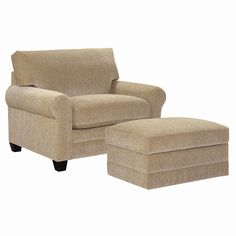 CU.2 Upholstered Chair and Ottoman by Bassett