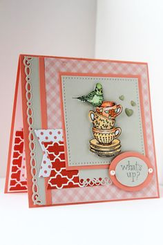 Short Stacks stamp set by Power Poppy, card design by Barbara Campbell.