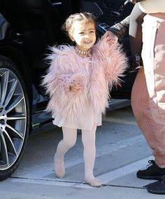 only North West wears fur and diamonds to ballet class