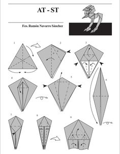 "AT-ST (Chicken Walker | 10 Diagrams To Create Your Own ""Star Wars"" Origami"