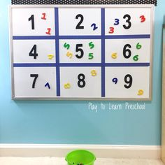 Easy Number Recognition activity
