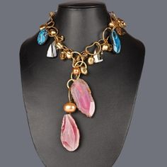 Featuring this rain bow style necklace on Zarilane.com. Go, Grab yourself one Now!
