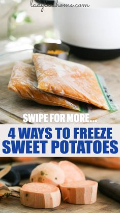 Freeze Sweet Potatoes, Mashed Sweet Potatoes, Sweet Potato Recipes, Freezer Jam Recipes, Canning Recipes, Frozen Vegetables, Fresh Fruits And Vegetables, Dehydrated Food, Frozen Meals