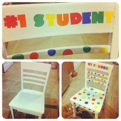 "My ""Reward"" chair for my classroom.... Good behavior will get students' name in drawing for upcoming week."