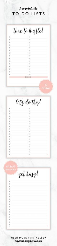 Printable Daily To Do List Template To Get Things Done  Planners
