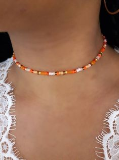 Beaded Choker Necklace, Seed Bead Necklace, Seed Bead Jewelry, Diy Necklace, Cute Jewelry, Beaded Jewelry, Handmade Jewelry, Beaded Bracelets, Necklaces