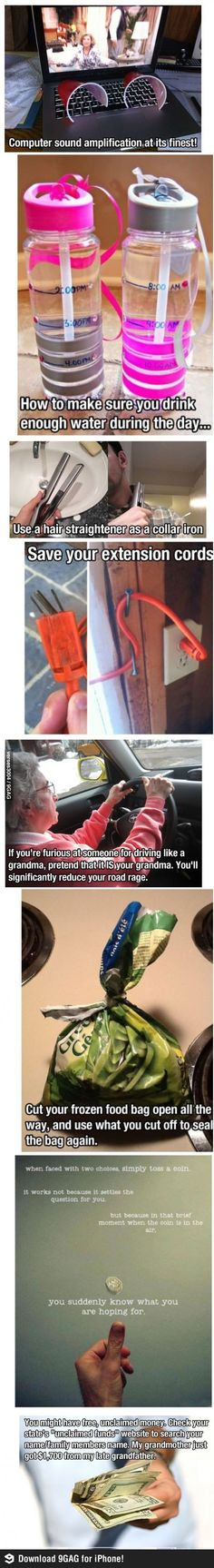 Some life hacks for you