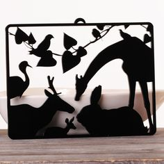 Home deco silhouettes by daphna naim, via Behance Laser Cut Acrylic, Hanging Pictures, Laser Cutting, Wall Decals, Moose Art, Silhouettes, Behance, Animals, Home Decor