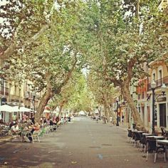 Main Street, Denia. Lots of lovely shops, cafes, bars and restaurants.