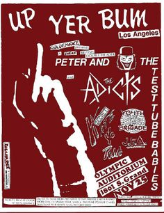 The Adicts w/Peter and the Test Tube Babies
