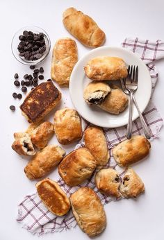 Vegan chocolate croissants made with coconut oil and no butter are the perfect chocolate filled vegan pastry!