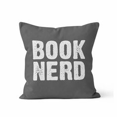 Book Nerd, Decorative Throw Pillow Cover