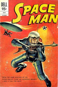 Space Man design from the Atomic Age Roy Lichtenstein Pop Art, Science Fiction Art, Pulp Fiction, Space Man, Space Girl, Comic Book Covers, Comic Books, Art Pulp, Ultramarines