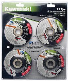 Kawasaki 10 Piece 4?'' Grinding Wheel Set Mold Making, Grinding, Ribbons