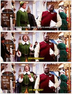 My favorite and the absolute best part of this movie - #Elf - Will Ferrell #LMAO