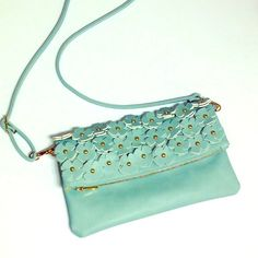 """NWOT light mint purse NWOT; never used; beautiful!  Shoulder strap is adjustable and the purse is about 12""""x7.5"""" Bags"""