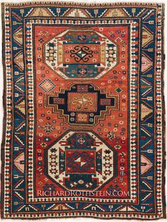 Magnificent Antique Kazak Oriental Rug Size: x Persian Carpet, Persian Rug, Rustic Rugs, Cool Rugs, Handmade Rugs, Rugs On Carpet, Textiles, Antiques, Art Watch