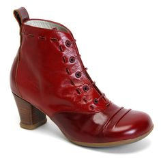 Fluevog-Operetta Bartolis.  I swear by Fluevogs...these will be my next purchase I think.  Well-made and super comfortable, even for clumsy people like me who don't do heels well.  So worth the price tag!