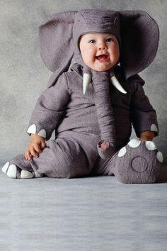 Déguisement bébé : Eléphant - Déguisement bébé. Quelle bouille !