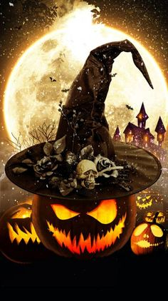 Search free halloween Wallpapers on Zedge and personalize your phone to suit you. Spooky Halloween Pictures, Happy Halloween, Halloween Artwork, Fete Halloween, Halloween Painting, Holidays Halloween, Scary Halloween, Halloween Pumpkins, Halloween Scarecrow
