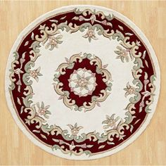 Hounslow Hand-Tufted Wool Beige Rug World Menagerie Rug Size: Round Circular Rugs, Circle Rug, Rug World, Gold Rug, Hand Tufted Rugs, Royal Jewels, Pink Rug, Red Rugs, Traditional Rugs