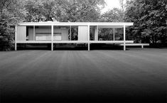 Farnsworth House, designed by Ludwig Mies van der Rohe in 1946