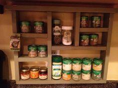 Cute idea for an organized but creative spice rack