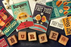 Fast Food Posters Set by elfivetrov on @creativemarket