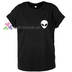 Alien head logo gift Tshirt shirt Tees Adult Unisex gift clothing Size S-3XL //Price: $11.99  //