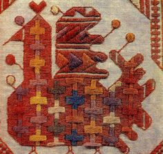 from the Traditional Russian Embroidery Books exhibit Textiles, Textile Patterns, Textile Art, Embroidery Stitches, Embroidery Patterns, Hand Embroidery, Embroidery Books, Cross Stitch Bird, Cross Stitch Patterns