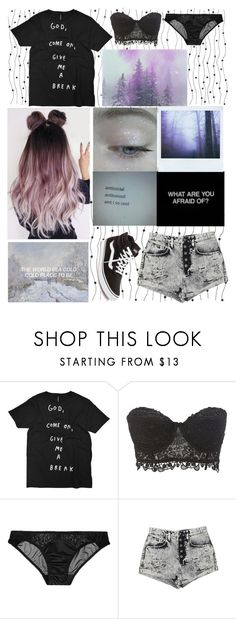 """""""i r i s"""" by itsgracie18 ❤ liked on Polyvore featuring Charlotte Russe, L'Agent By Agent Provocateur, Carmar and Vans"""