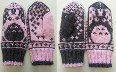 Totoro -lapaset Totoro, Mittens, Gloves, Knitting, Winter, Fashion, Winter Time, Moda, Tricot