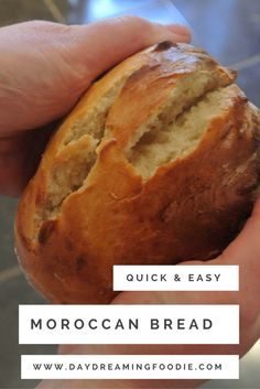 This quick and easy bread recipe makes a wonderfully fragrant moroccan bread…