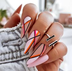 Almond Acrylic Nails, Best Acrylic Nails, Simple Acrylic Nails, Pastel Nails, Almond Nails, Stylish Nails, Trendy Nails, Nail Manicure, Gel Nails