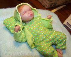 OOAK Baby Tiny Doll 4 Inches by chrisjonesdolls on Etsy, $39.95