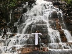artnet Galleries: Places of Power, Waterfall by Marina Abramovic from Luciana Brito Galeria