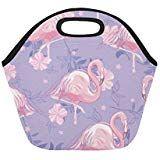 Insulated Lunch Tote Bag Flamingo Reusable Neoprene Portable Lunchbox Handbag For Men Women Adult Kids Boys Girls Insulated Lunch Tote, Lunch Tote Bag, Handbags For Men, Kids Boys, Flamingo, Boy Or Girl, Lunch Box, Girls, Women