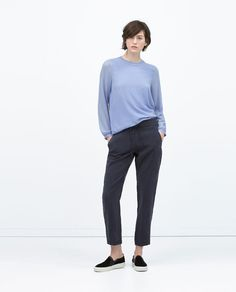 ZARA - NEW THIS WEEK - LOOSE FIT TROUSERS WITH ELASTIC WAISTBAND 49.90