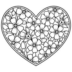 Indian Style 391039180147424316 - Mehndi flower pattern in form of heart for Henna drawing and tattoo. Decoration in ethnic oriental, Indian style. Coloring book page. Source by elisabethcheval Heart Coloring Pages, Quote Coloring Pages, Flower Coloring Pages, Mandala Coloring Pages, Free Coloring Pages, Printable Coloring Pages, Coloring Sheets, Coloring Books, Pattern Coloring Pages