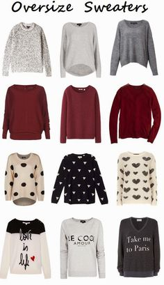 Some cute ladies oversize sweaters for winter | Fashion World