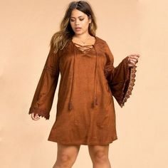 Kissmilk Plus Size New Fashion Women Clothing Streetwear Bohemian Solid  Dress Long Sleeve Lace Big Size 8903171f49da